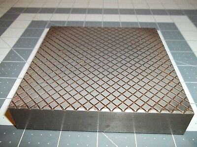 """Lapping Plate 4.5"""" x 4.5"""" x .95"""". .200"""" Pitch with Case"""