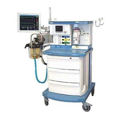 Drager Fabius GS Anesthesia Machine - Volume Control - USJN-0224 - BioMed Tested