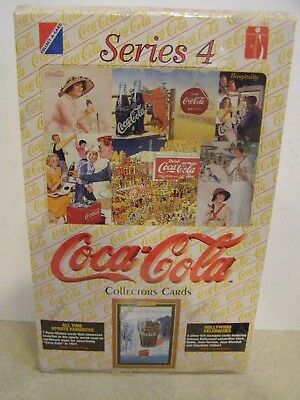Coca Cola Factory Sealed Box of Series 4 Collector Cards w/ 36 Packs - NEW 1995