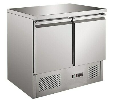 Budget New ICE-A-Cool 2 Door Refrigerated Preparation Counter Fridge 900Wx700Dmm
