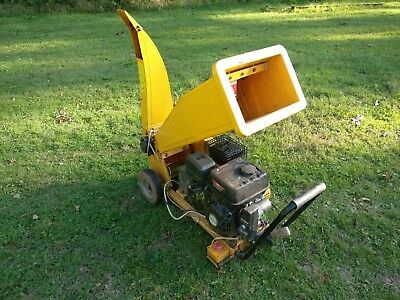 Electric start 200cc petrol engine wood chipper shredder garden 6.5hp