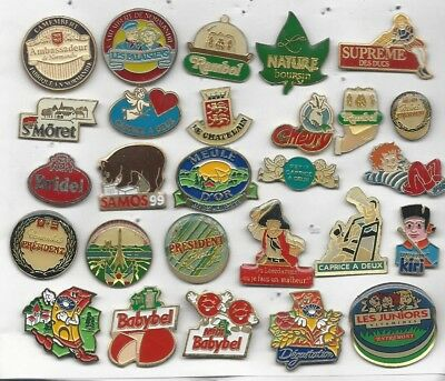 Lot De 27 Pin's Fromages