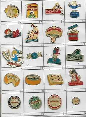Lot De 20 Pin's Fromages