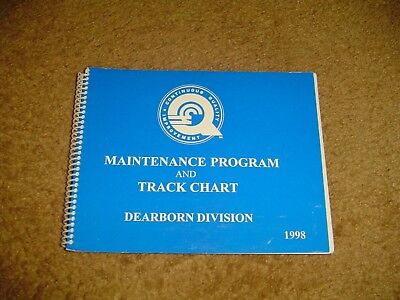 *1998 CONRAIL DEARBORN DIVISION MAINTENANCE PROGRAM and TRACK CHART***