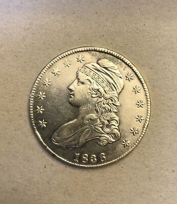 1836 capped bust half dollar 50 C.