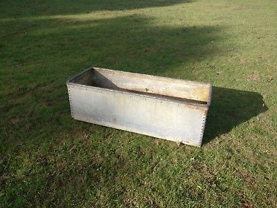 vintage galvanised riveted drinking trough really nice one planter