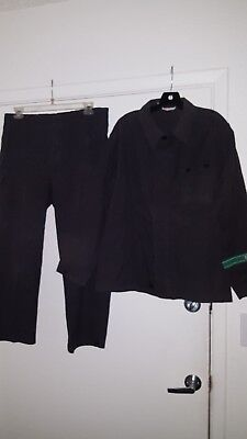 East German Black Fatigue Jacket & Trousers. Size M-52