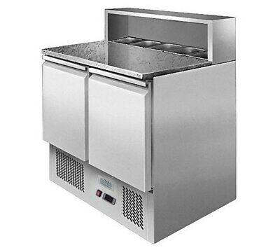 ICE-A-COOL Two Door Pizza Prep Counter 900Wx700Dx1100Hmm (Pans & Lids Included)