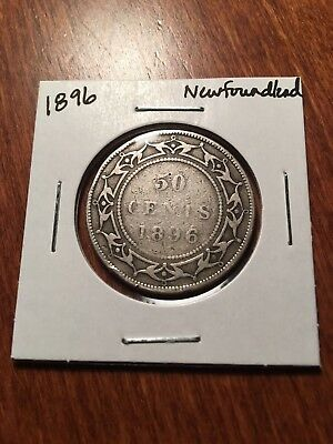 1896 Newfoundland Silver Fifty Cents - no reserve