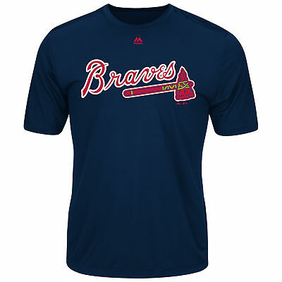 Majestic MLB Braves Adult Evolution Tee T-Shirt