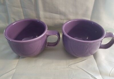 Lot of 2 FIESTA LILAC JUMBO SOUP or CHILI MUGS Printed Mark NR