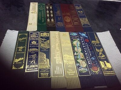 leather bookmarks from around Uk, various themes all in good condition