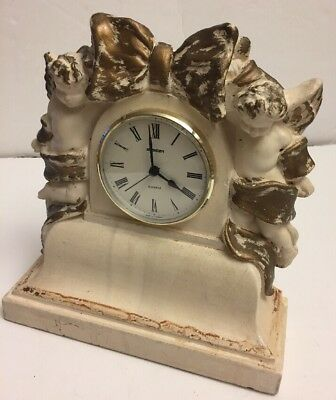 "Collectible STAIGER Cherubs Mantle clock England made by Alan Wallis W-9.5""X 10"""