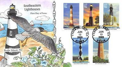 3787-91 37c Southeastern Lighthouses, Collins H/P Hand Painted [E395600]