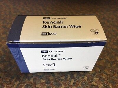 Covidien 6560 Kendall Skin Barrier Wipes, Large, 2-ply (Pack of 50)