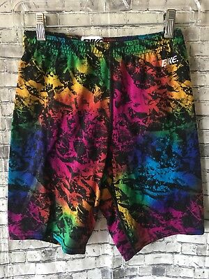 Womens Vintage BIKE Shorts Spandex 80s Neon Workout Shorts Medium