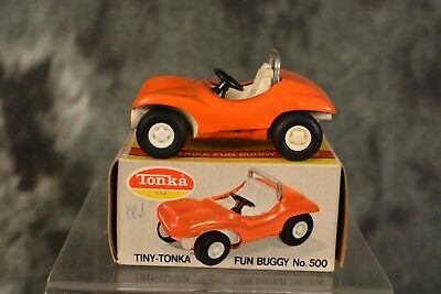 Vintage 1960s Tiny Tonka Orange Fun Buggy 100% Complete w/ Box NEAR MINT
