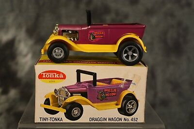 Vintage 1960s Tiny Tonka Draggin Dragon Wagon 100% Complete w/ Box NEAR MINT