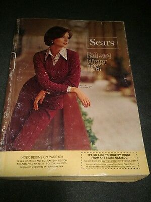 SEARS 1974 Fall and Winter Original Vintage Catalog Fashion Housewares