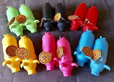"""SQUEEZE ME PIGGIE"" By: Animolds (12 Piggies) 6 Assorted Colors (2 Each) 3+Years"