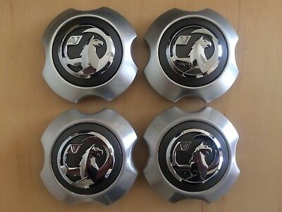 Set Of Four Vauxhall Corsa D Sri Limited Edition Silver Alloy Wheel Centre Caps
