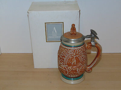 Avon Tribute to the Wild West Ceramic Beer Stein w/Lid 1993-New in Open Box