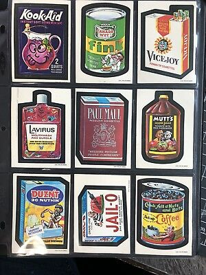 1973 OPC Canadian Wacky Packages Original 1st Series WHITE BK Complete Set 25/25