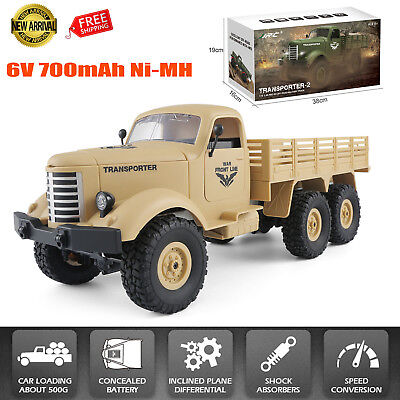 JJRC 2.4GHz 6WD Electric RC Off-road Car Racing Military Truck Plane Climb Cars