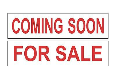 Real Estate Sign Riders - 200 Signs - 2 Sided - Outdoor NEW-- FREE SHIPPING! Red