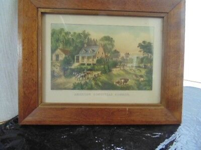 American Homestead    10'' x 8''   Currier & Ives, print lithograph 1869,