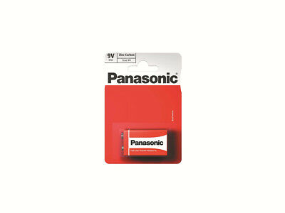 9V Battery Panasonic Zinc Carbon Battery 9v 6F22 Long Lasting Carbon Battery