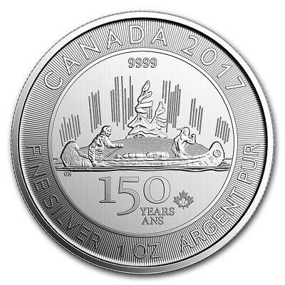 1 oz 2017 Canadian 150th Special Edition Voyageur Silver Coin 9999