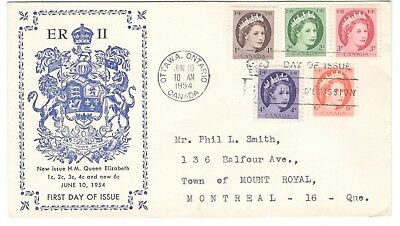 1954 Ottawa QEII Wilding Issues Combo First Day Cover FDC Unusual ERII Cachet