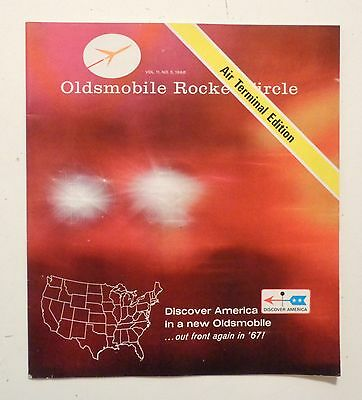 1967 OLDSMOBILE Rocket Circle Promotional Booklet Color Photos DELTA 88 CUTLASS