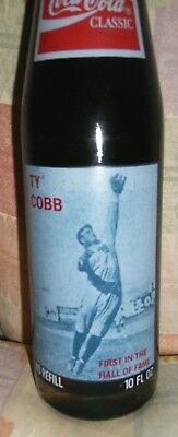 Coke Bottle Ty Cobb (1St In H.o.f) Never Sold In Stores(Very Very Rare) +Htf
