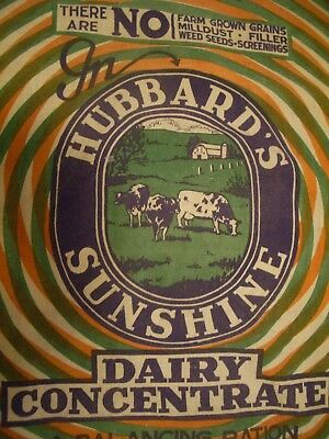 Vintage Cloth Dairy Concentrate Hubbards Sunshine Feed Sack  Albridge PA