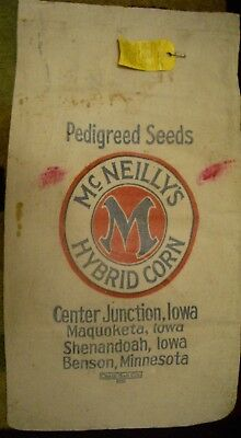 Vintage Cloth McNeilly's Hybrid Corn Seed sack 1940