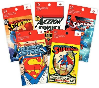2013 Superman 75th Anniversary Ltd Edition 5 Booklets of 10 TM and © DC Comics