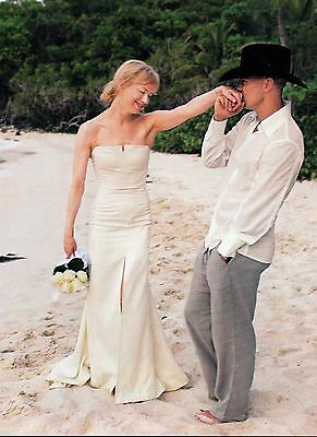 Kenny Chesney & Renee Zellweger Wedding 2 Page Picture Clipping