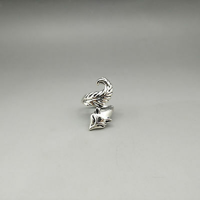 Chinese Exquisite Tibetan silver Fashion Ring z201
