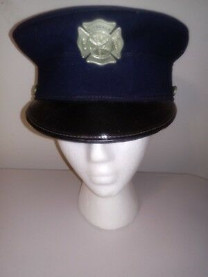 Vintage 1950s Hinsdale CHICAGO Fire Department Dress Hat w/ BADGE