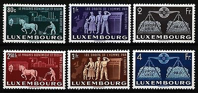 Luxembourg 1951 SG 543-548 Sc 272-277 , Mint Hinged