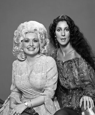Dolly Parton And Cher  Posing For Photo 8x10 Photo Print