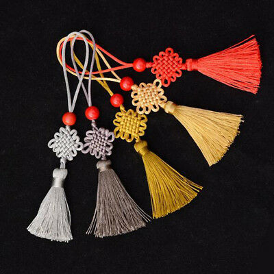 Feng Shui Lucky Chinese Knot Tassel Hanging Pendant Car Decor Key Ring String