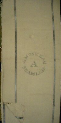 Vintage Cloth Amoskeag  Seamless Feed Grain Seed Sack