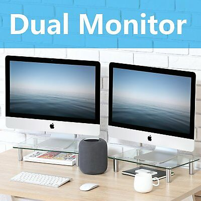 Dual Monitor Riser Desktop Organizer Stand for Xbox/TV/Laptop/IMAC, 2 Pack