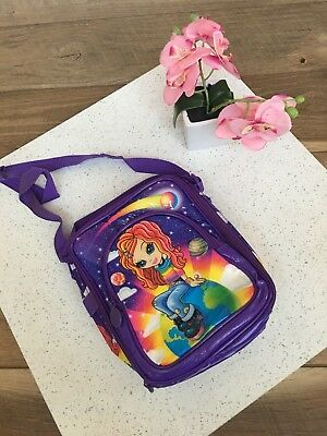 Lisa Frank Glitter Terra Linda Earth Galaxy Star insulated Lunch Bag purse Tote