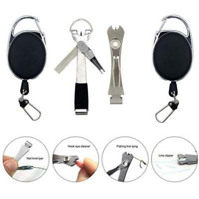 4 in 1/ 3 in 1 Quick Knot Tool  Fly Fishing Clippers Line Nipper Tying w/ Zinger
