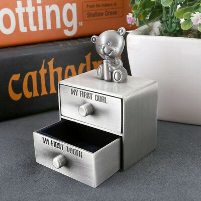 Metal Baby Deciduous Teeth Drawer Case First Curl Tooth Box Set Meaningful Gift