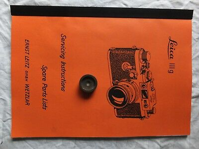 Leica IIIg Service/Parts  Instruction Manual & Leica Base Tool
